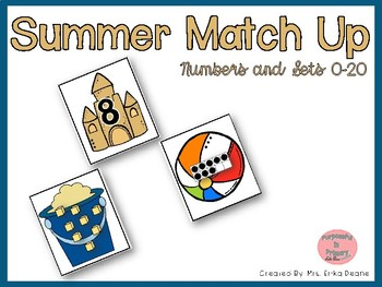 Summer Match Up! Ordering & Matching Numbers and Arrangements to 20