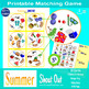 "Summer Matching Game SHOUT OUT, 31 Printable 3"" & 5"" Cards"