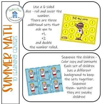 Summer Math - 10 tasks K-2