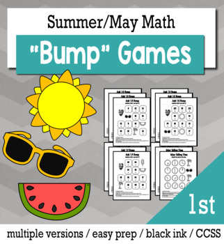 Summer Math 1st Grade+ Bump Games Bundle