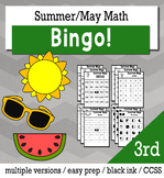 Summer Math 3rd Grade BINGO Game Bundle