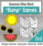 Summer Math 3rd Grade+ Bump Games Bundle