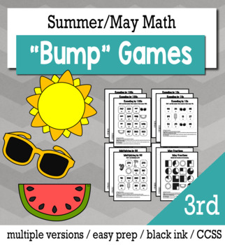 Summer Math 3rd Grade+ Bump Games Bundle