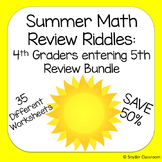 Summer Math Packet - End of 4th grade / Rising 5th Graders