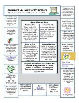 Summer Math Activities to Help You Prepare for 3rd Grade Math