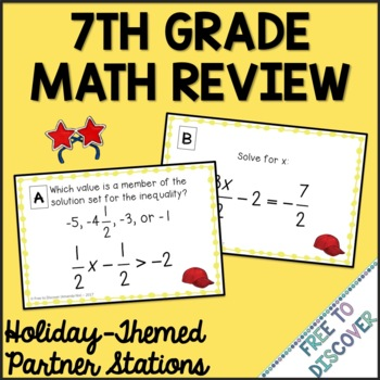 End of Year Summer Math Activity - 7th Grade Math Review