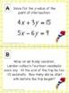 Summer Math Activity - 8th Grade Math Review