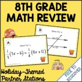 End of Year Summer Math Activity - 8th Grade Math Review