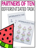 Summer Math Activity | Free Partners of Ten Watermelon