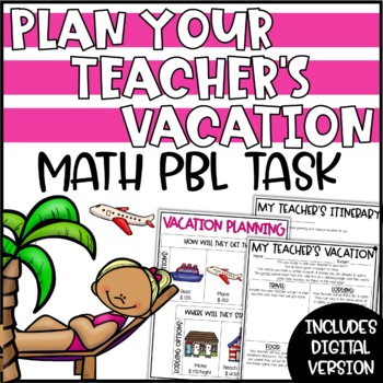 Summer Math Activity - Plan Your Teacher's Vacation