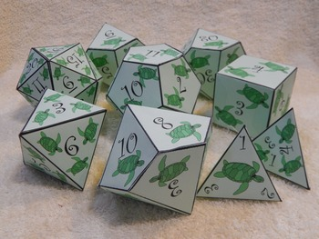 Summer Math Activity: Sea Turtle Dice Templates