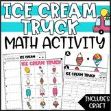 Summer Math Addition & Subtraction Activity - Run an Ice Cream Truck