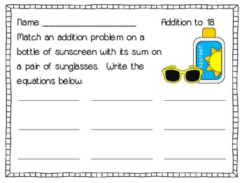 Summer Math - Addition, Subtraction, Time & Money Centers