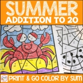 Summer Color By Number Addition to 20