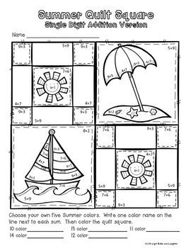 Summer Math Art - Quilt Square