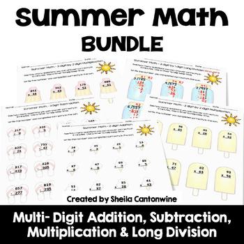 Summer Math BUNDLE