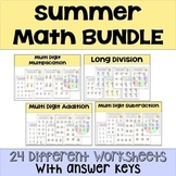 Summer Math Packet Operations BUNDLE