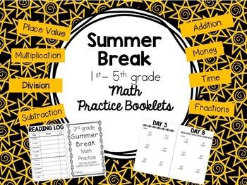 Summer Math Booklets- BUNDLE