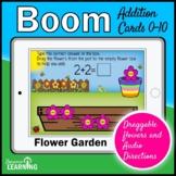 Summer Math Boom Cards   Addition Math Game