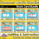 Summer Math Boom Cards Bundle: Addition and Subtraction -