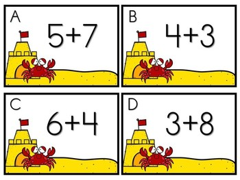 Summer Math Center - Crabby Addition