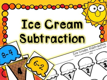 Summer Math Center - Ice Cream Subtraction