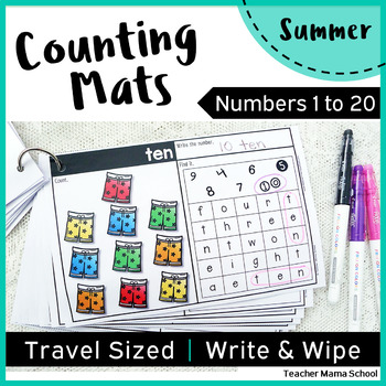 Numbers 1 to 20 Math Center Activity - Counting Mats
