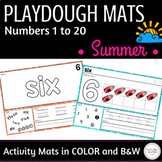 Summer Math Center : Playdough Mats - Numbers 1 to 20