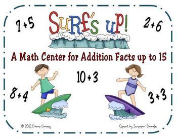 Summer Math Center - Surf's Up Addition