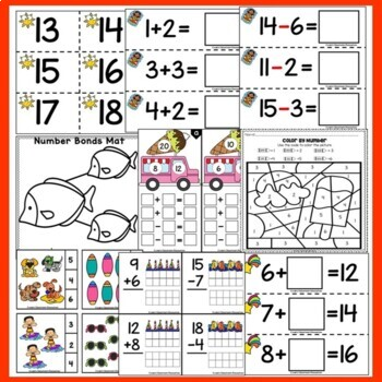 Summer Math Centers - Number Concepts 1-20