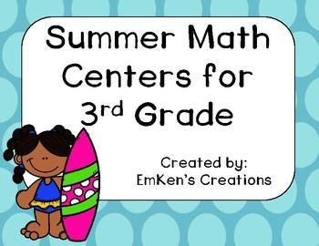 Summer Math Centers - Third Grade
