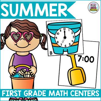 Summer Math Centers for First Grade