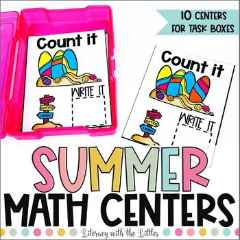 Summer Math Centers for Task Boxes