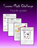 Summer Math Challenge:  Fourth grade