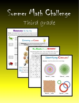 Summer Math Challenge:  Third grade