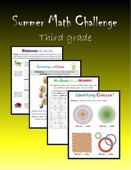 Summer Math Challenge:  Third grade
