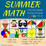 Math Coloring Worksheets Summer Packet Kindergarten To 1st Grade Review Sheets