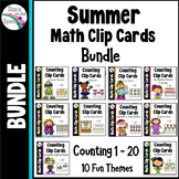 Summer Math Counting Clip Card Bundle