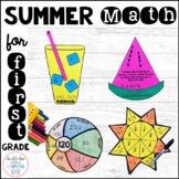 Summer Math Craftivities for First Grade { Equations, Frac