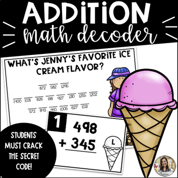 Addition with Regrouping Math Activity