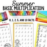 Summer Math Fact Fluency for Multiplication (0, 1, 2, 5, &