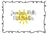 Summer Math Facts