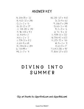 Summer Math Facts Decoder