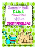 Summer Math Addition Word Problems