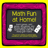 Math Games Parents Can Play with Kids at Home! Perfect for Summer or Open House!