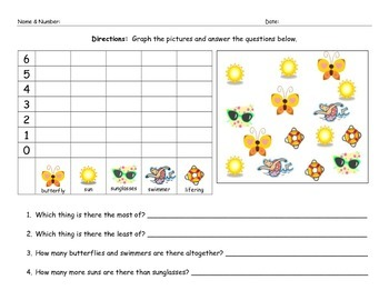 Summer Math Graphing Morning Work Worksheet