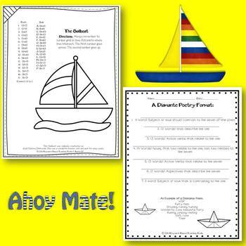 Summer Math Grids & Poetry: Sailing Into Summer