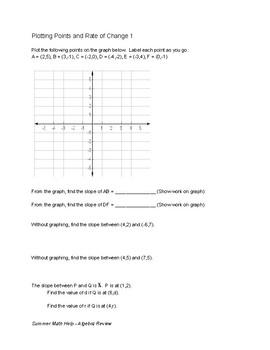 Summer Math Help - Algebra Review part 1