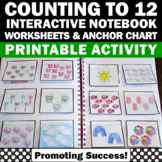 Counting Interactive Notebook, Kindergarten Counting Cut and Paste Activities