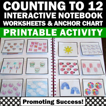 Counting Activities for Kindergarten Math Interactive Notebook